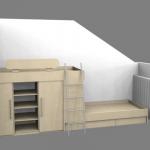 Postelja v dveh nadstropjih